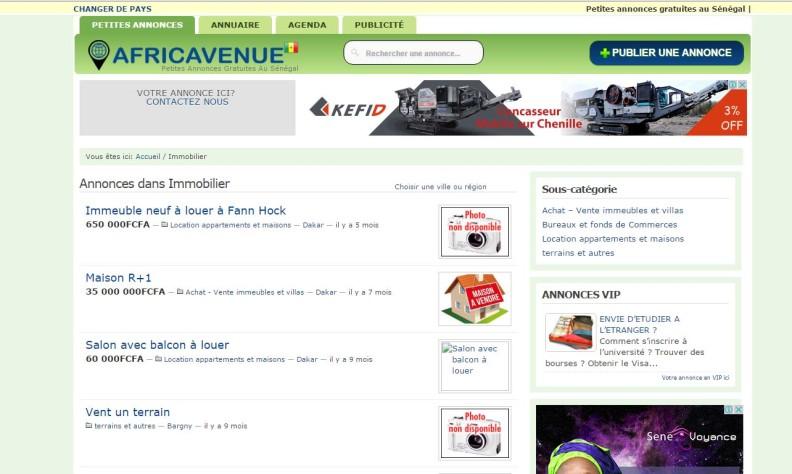 Annonce immobilière Sénégal: Africavenue.com