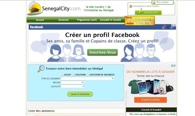Annonce immobilière au Sénégal: Senegalcity.com portail d'annonce immobilière