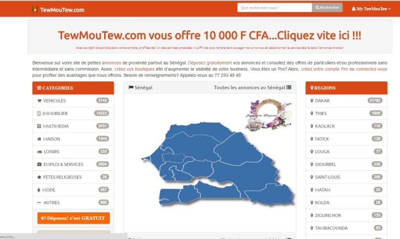 Annonce immobilière au Sénégal: Tewmoutew.com site d'annonce gratuite